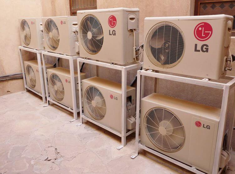 Unidad exterior máquina aire acondicionado split